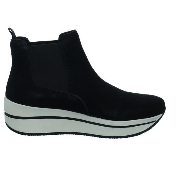 Carmela Damen 67422SCHWARZ Schwarzer Leder/Textil Chelsea Boot