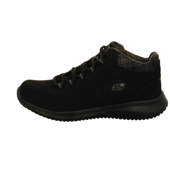 Skechers Damen Just Chill Schwarze Mesh Sneaker