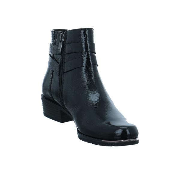 Caprice Damen 25309-017 Schwarze Lackleder Stiefelette
