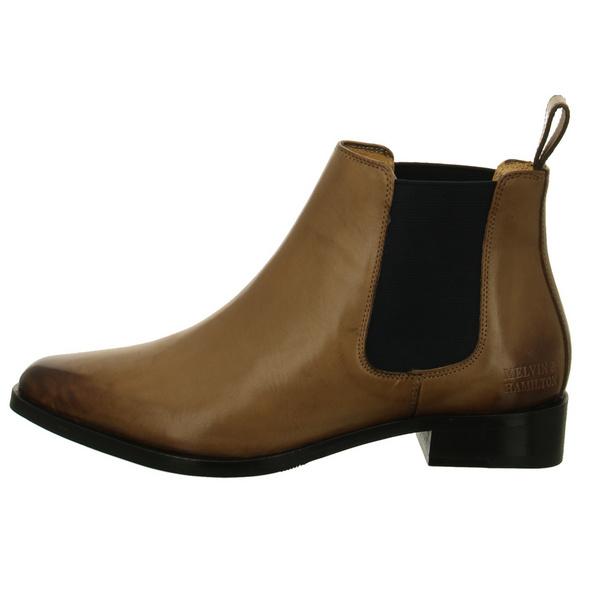 Melvin & Hamilton Damen Marlin 4 Braune Glattleder Chelsea Boots