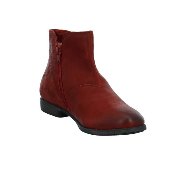 Think Damen Agrat Roter Glattleder Boot