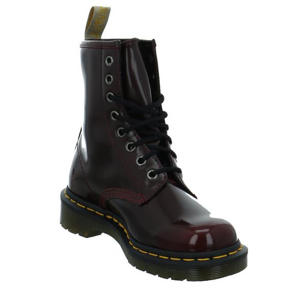 Dr. Martens Damen Oxford Rub Off Rote Lack Boots