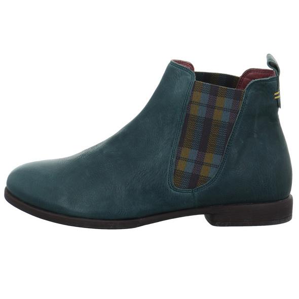 Think! Damen Agrat Blauer Leder/Textil Chelsea Boot
