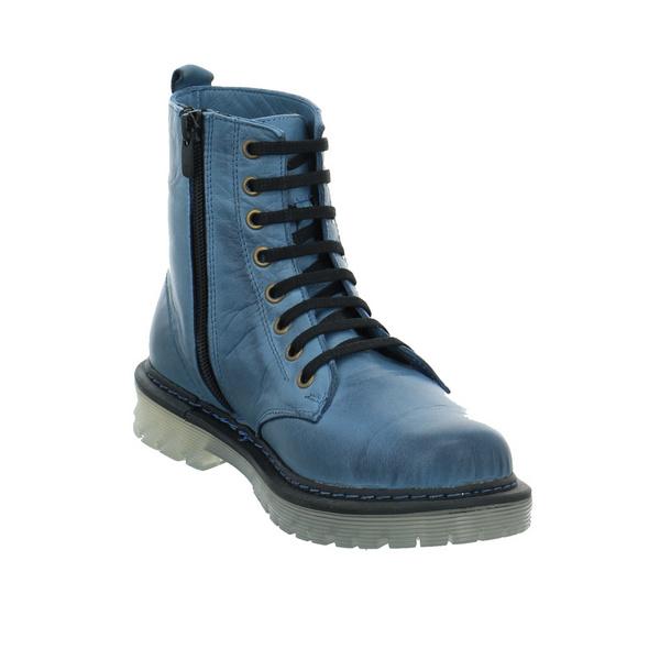 Gemini Damen 382106-02-808 Blauer Glattleder Boot
