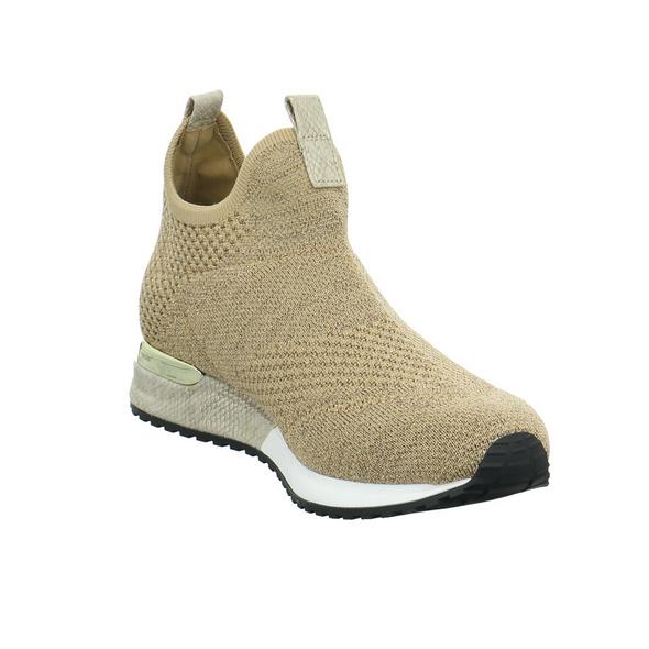 La Strada Damen 1815836-4543 Goldfarbener Textil Sneaker