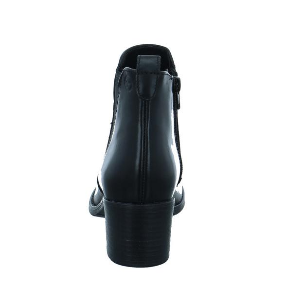 Tamaris Damen 25043-001 Schwarze Leder/Textil Stiefelette