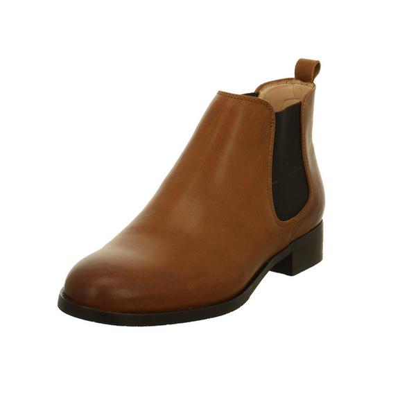 Clarks Damen Netley Ella Braune Glattleder Chelsea Boots