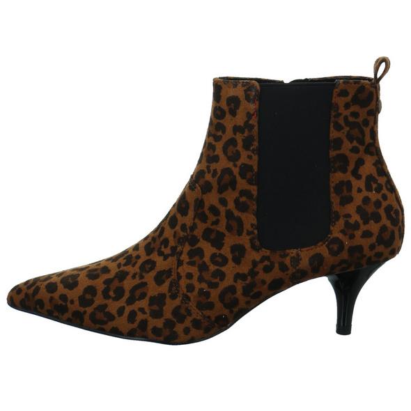 S.Oliver Damen 25356/396 Brauner Textil Ankle Boot in Leo-Optik