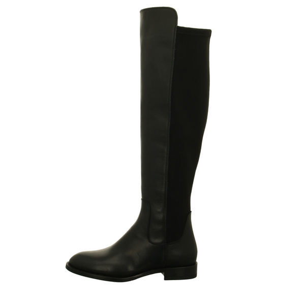 Alpe Damen Melanie 4310.20.05 Schwarze Glattleder Overknee Stiefel