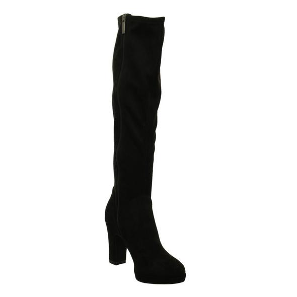 Tamaris Damen 25522-001 Schwarze Textil Stiefel