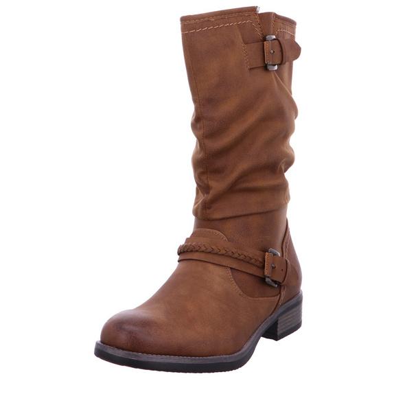 Rieker Damen 98860-22 Braune Synthetik Stiefel