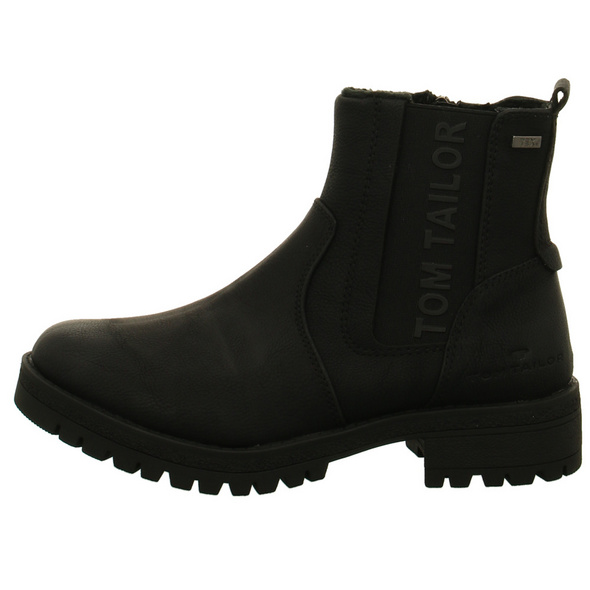 Tom Tailor Damen 7991009 Schwarze Synthetik Winterboots