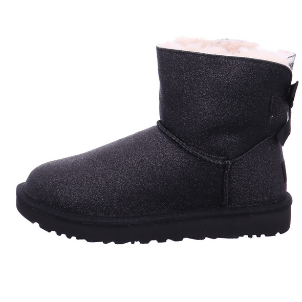 UGG Damen Mini Bailey Bow Sparkle Classic Schwarze Synthetik Winterboots