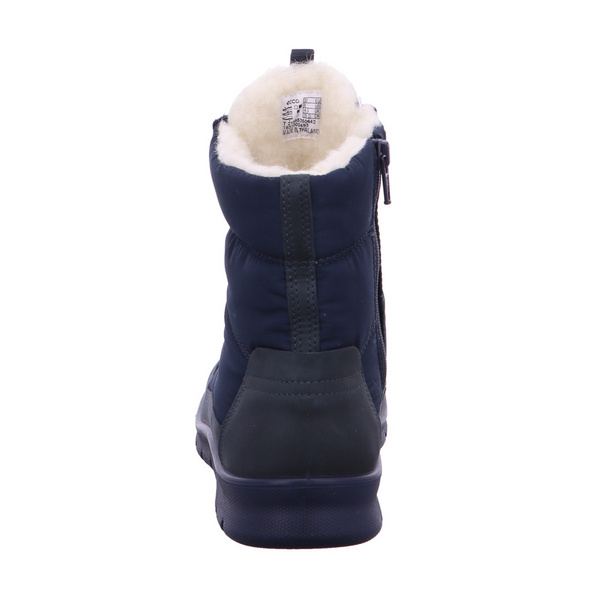Ecco Damen Babett Blaue Leder/Mesh Winterboots