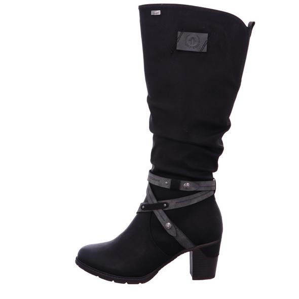 Rieker Damen 96054-00 Schwarze Synthetik Stiefel