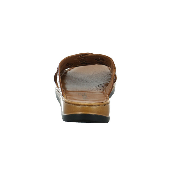 Caprice Damen 27150-350 Braune Glattleder Pantolette
