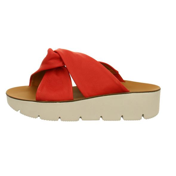 Paul Green Damen 7474-054 Rote Glattleder Pantolette