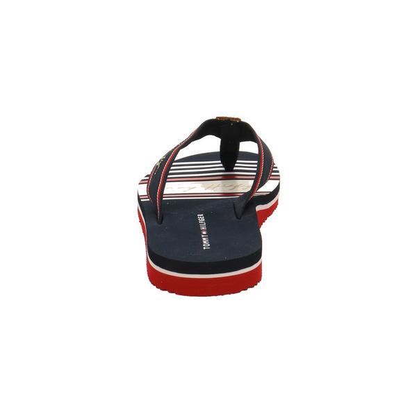 Tommy Hilfiger Damen FW0FW056620GY Blaue Leder/Textil Pantolette