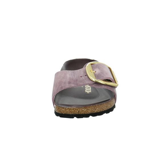 Birkenstock Damen Madrid Big Buckle Violette Nubukleder Pantolette