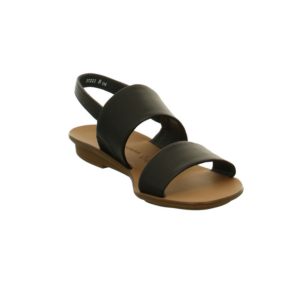 Paul Green Damen 7203-004 Schwarze Glattleder Sandalette