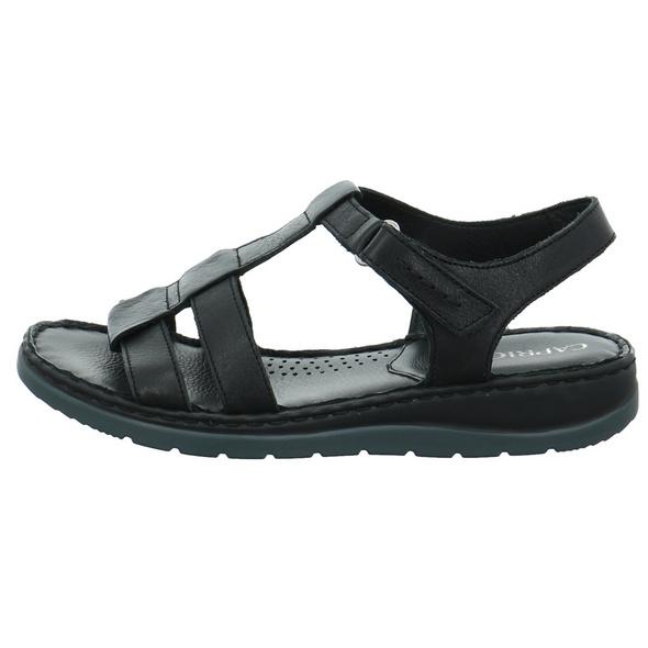 Caprice Damen 28151-022 Schwarze Glattleder Sandalette