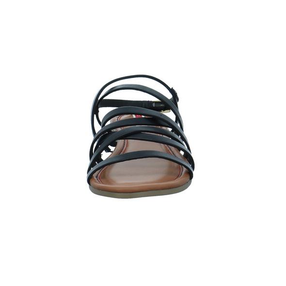 S.Oliver Damen 28101-001 Schwarze Glattleder Sandalette