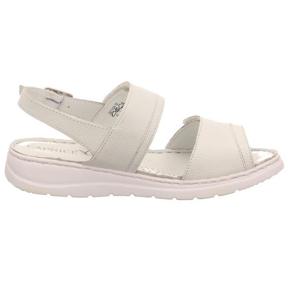 Caprice Damen 28153-102 Weiße Glattleder Sandalette