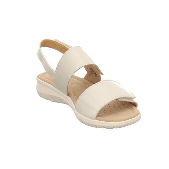 Caprice Damen 28602-139 Weiße Glattleder Sandalette