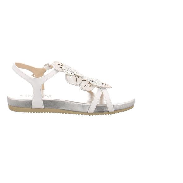 Caprice Damen 28107-197 Weiße Glattleder Sandale