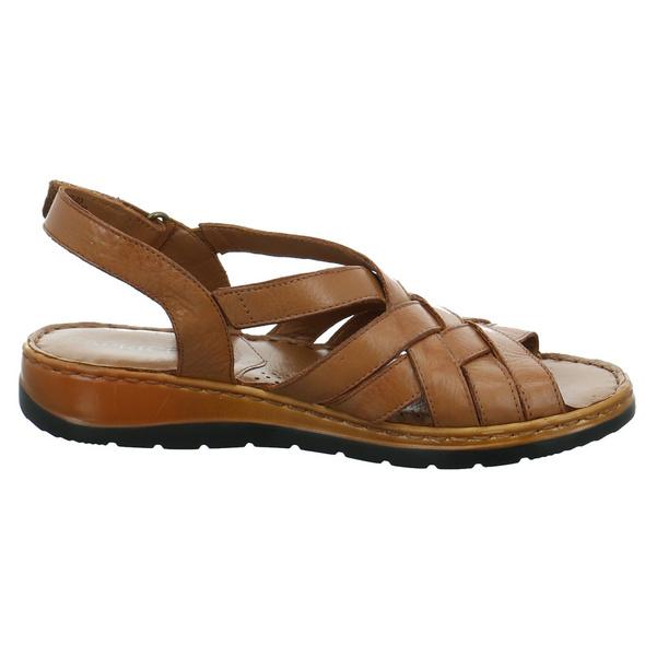 Caprice Damen 28152-350 Braune Glattleder Sandalette