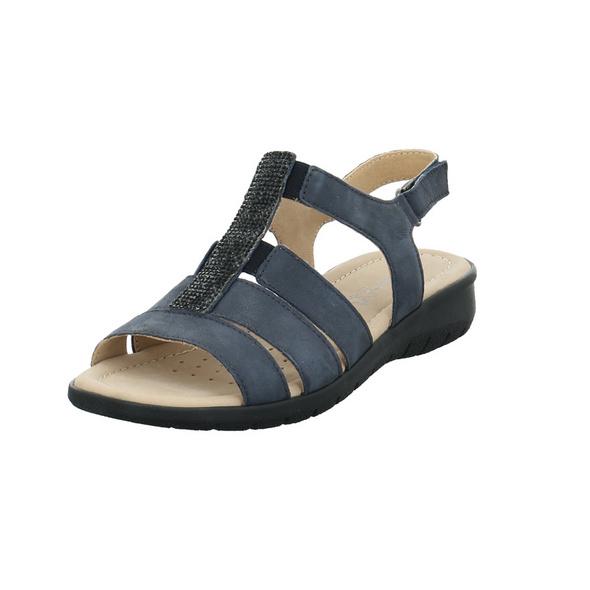Caprice Damen 28650-805 Blaue Glattleder Sandalette