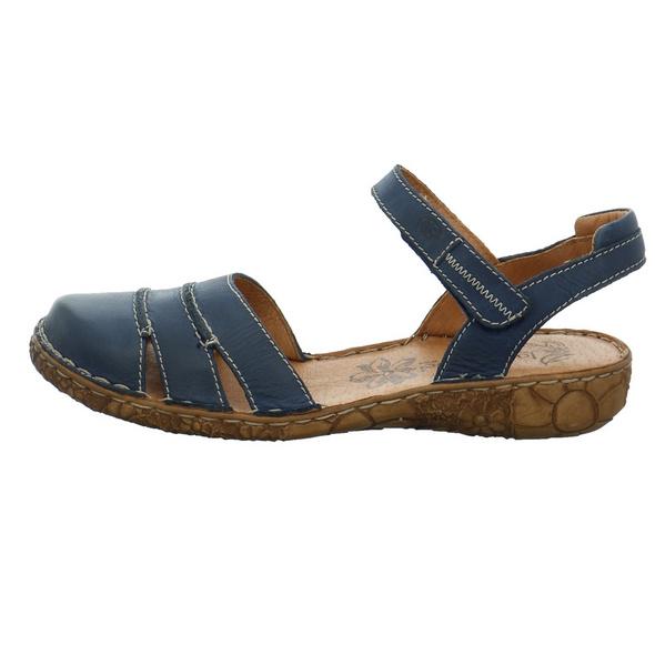 Josef Seibel Damen Rosalie 44 Blaue Glattelder Sandale
