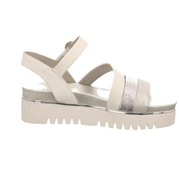 Tizian Damen Paris 01 Silberfarben Kombinierte Glattleder Sandalette
