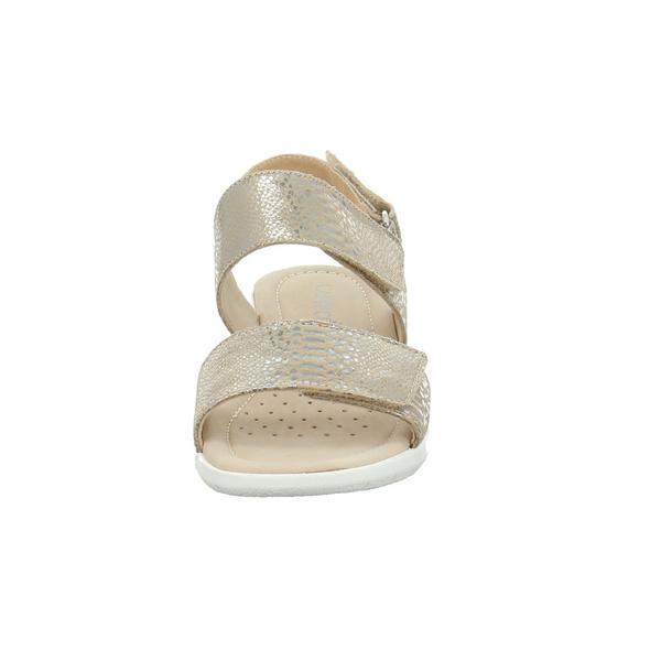 Caprice Damen 28602-334 Taupe/Goldene Reptil Optik Sandalette
