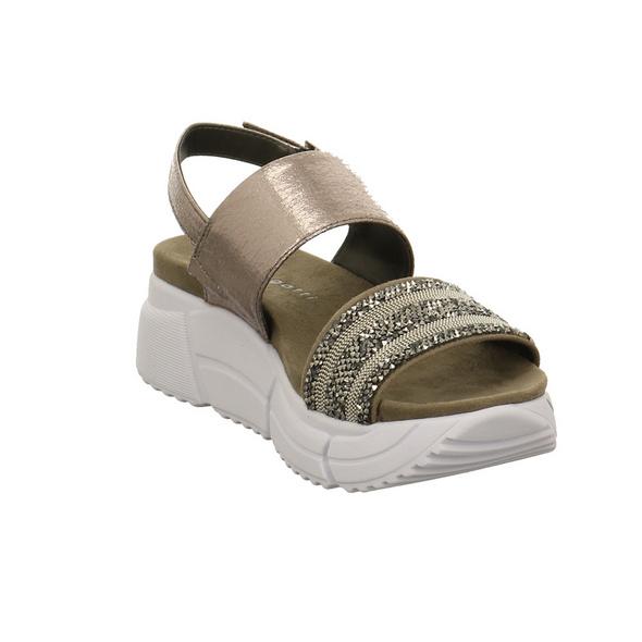 Bugatti Damen Raja Goldfarbene Synthetik/Textil Sandalette