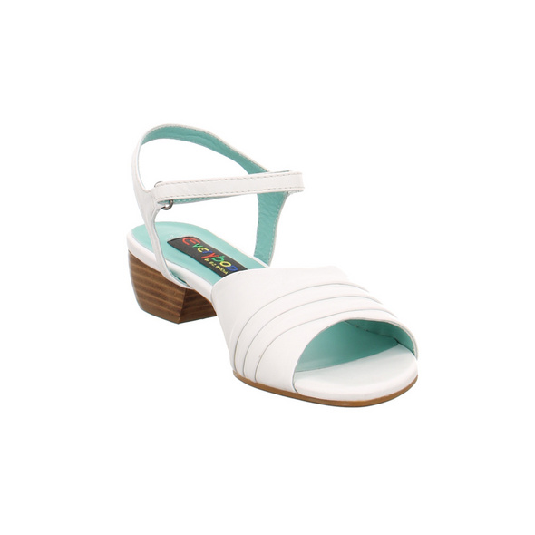 Everybody Damen 20891T4114 Weiße Glattleder Sandalette