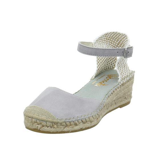 Vidorreta Damen 09200ANTOGRIS Graue Leder/Textil Sandalette
