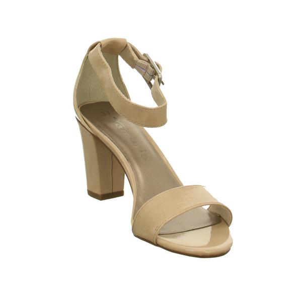 Tamaris Damen 28018-253 Beigefarbene Lack Sandalette