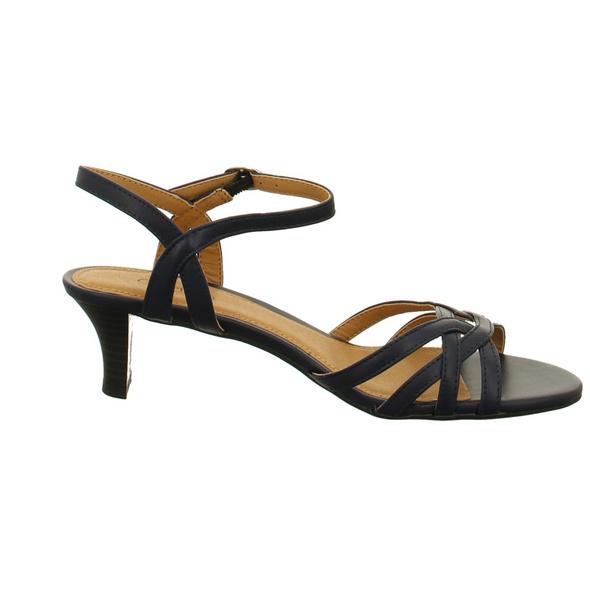 ESPRIT Damen 030EK1E302/400 Blaue Kunstleder Sandalette