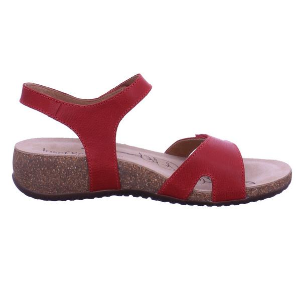 Josef Seibel Damen Natalya 07 Rote Glattleder Sandalette