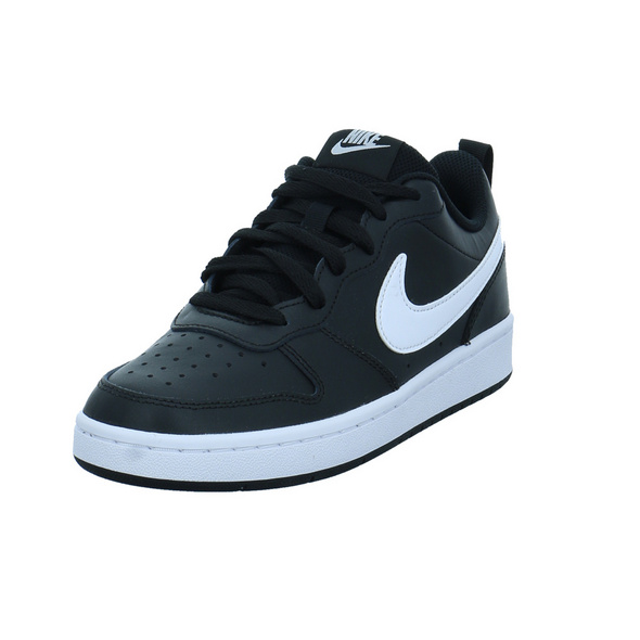 Nike Kinder Court Borough Low 2 Schwarzer Leder/Synthetik Sneaker