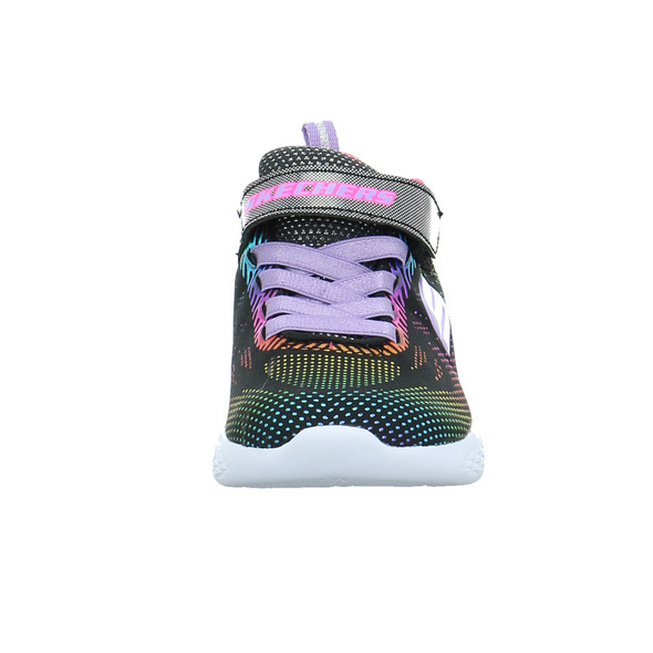 Skechers Kinder Go run 600-Shimmer Speed Schwarz/Multicolorfarbener Textil Sneaker