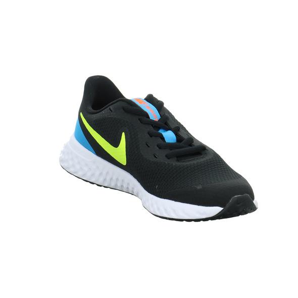 Nike Kinder Revolution 5 (GS) Schwarzer Textil Sneaker