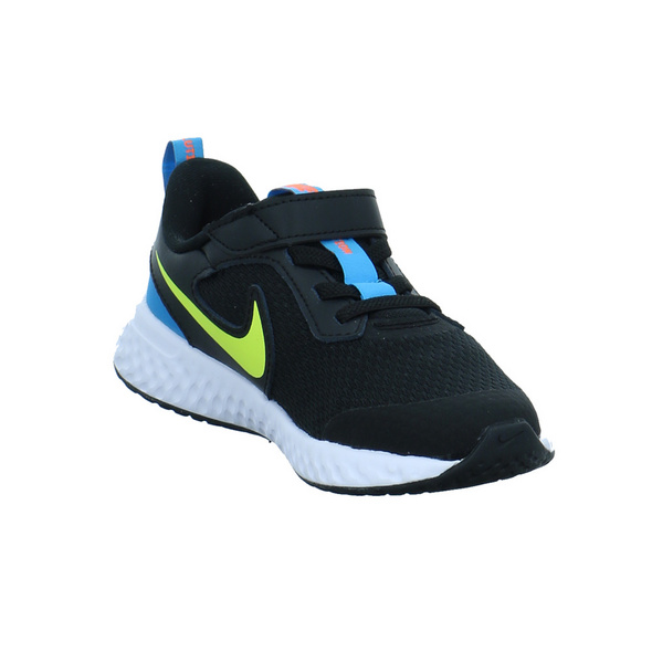 Nike Kinder Revolution 5 Schwarzer Synthetik/Textil Sneaker