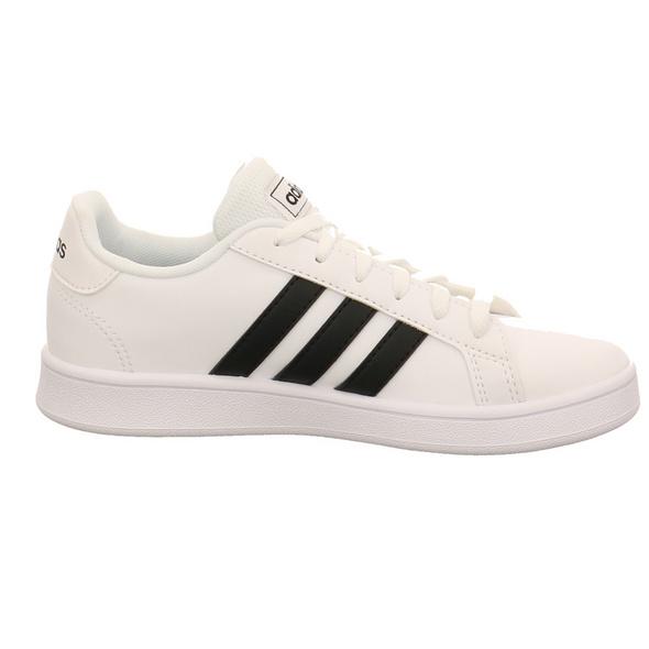 Adidas Kinder Grand Court K Weißer Synthetik Sneaker