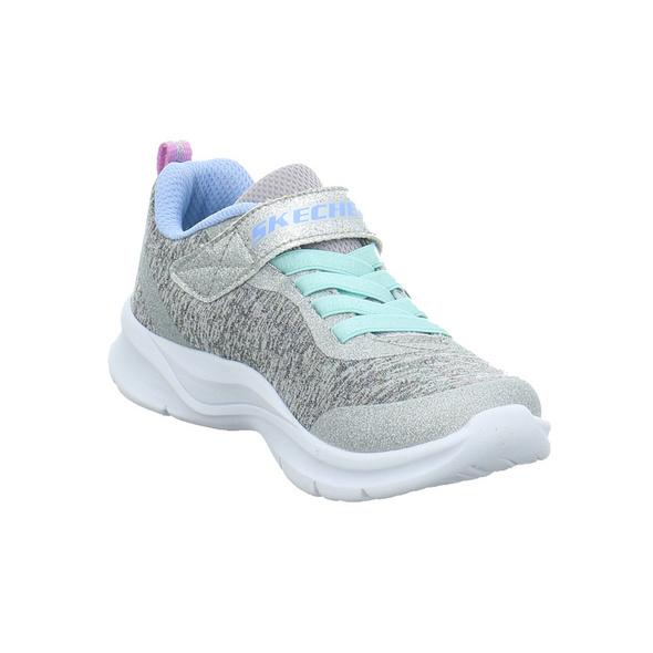 Skechers Kinder Tech Groove Sparkle Gitzer Grauer Textil Sneaker
