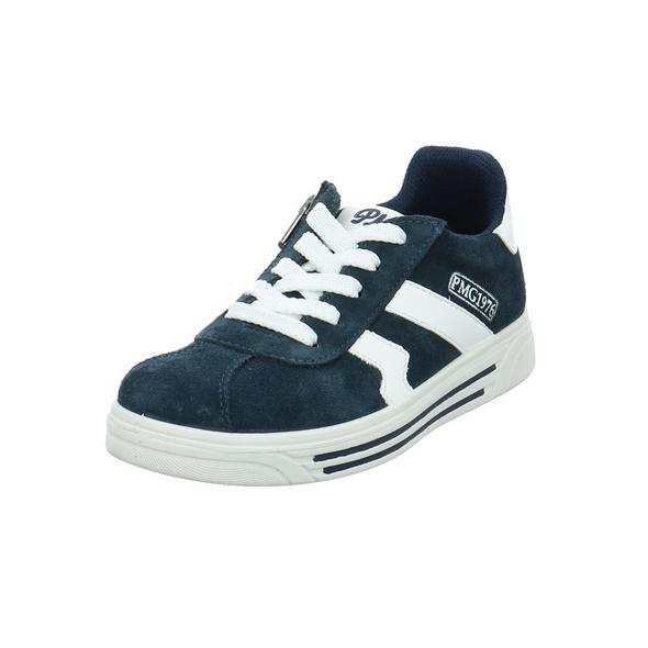 Primigi Kinder Hula Blauer Glattleder/Veloursleder Sneaker