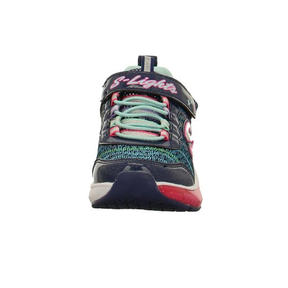 Skechers Kinder S Light Light Sparks Blaue Textil/Synthetik Sneaker