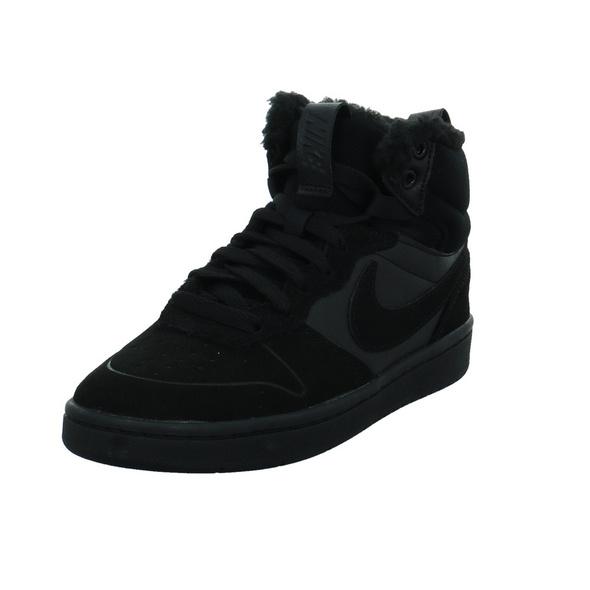 Nike Kinder -Court Borough Mid 2 Boot GB- Schwarzer Materialkombinierter Boot