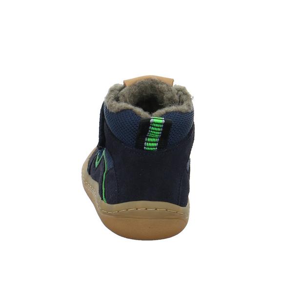 Froddo Kinder Barefoot Blauer Leder/Textil Winterboot
